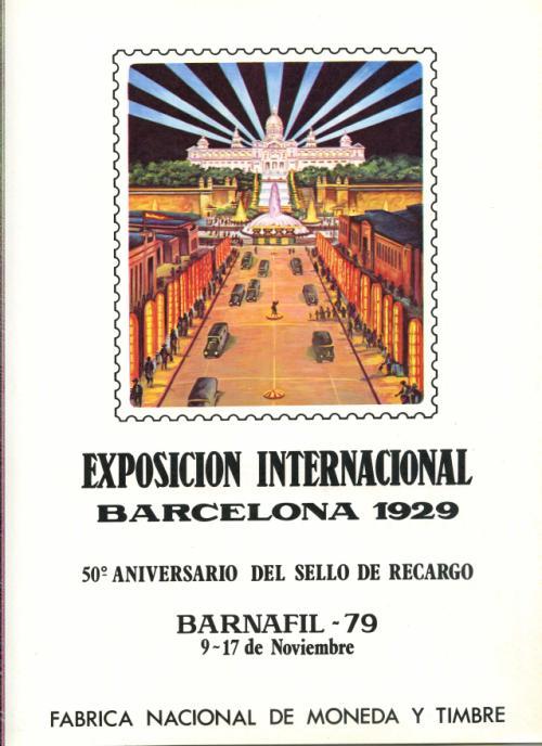 1979. Documento FNMT. 50 Aniversario Sello de Recargo