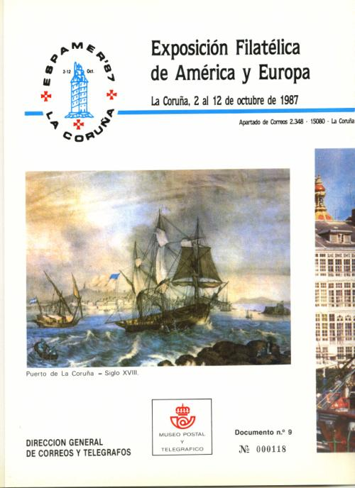 1987. Documento de Correos. Espamer