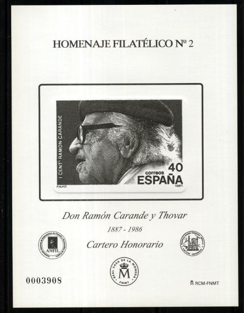 2006. Don Ramón Carande y Thovar