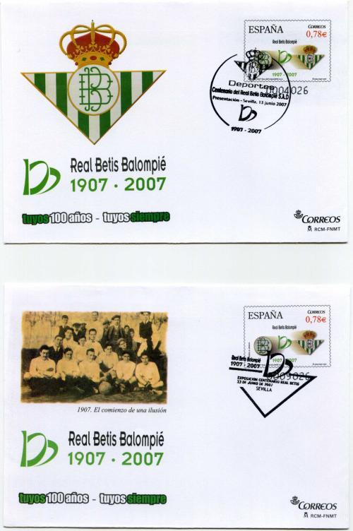 2007. Real Betis. Sevilla. Matasellado