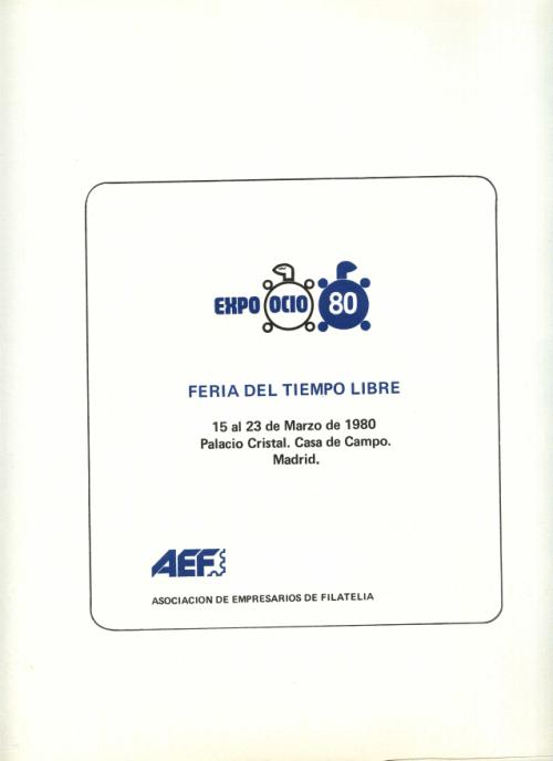 1980. Documentos Varios. Expoocio'80