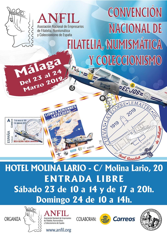 CONVENCIÓN NACIONAL DE FILATELIA, NUMISMÁTICA Y COLECCIONISMO DE MÁLAGA