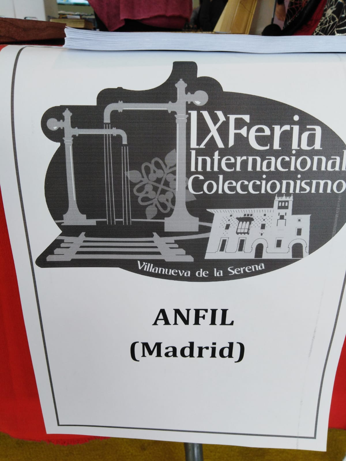 ANFIL PARTICIPA EN LA IX FERIA INTERNACIONAL DE COLECCIONISMO DE VILLANUEVA DE LA SERENA