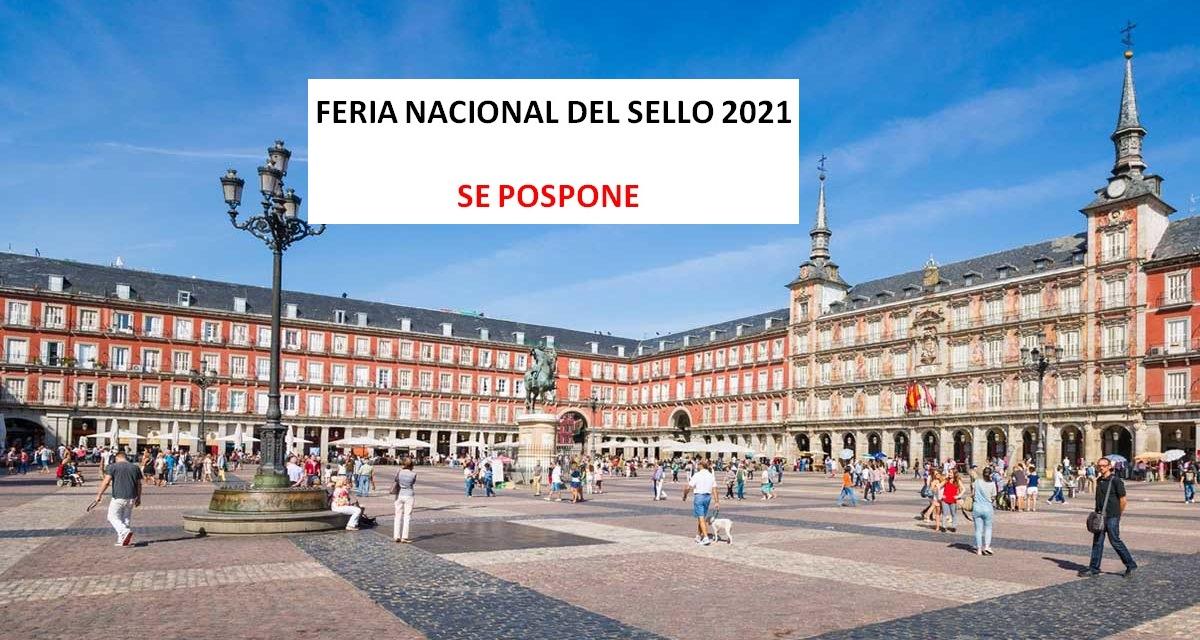 FERIA NACIONAL DEL SELLO 2021 POSPUESTA