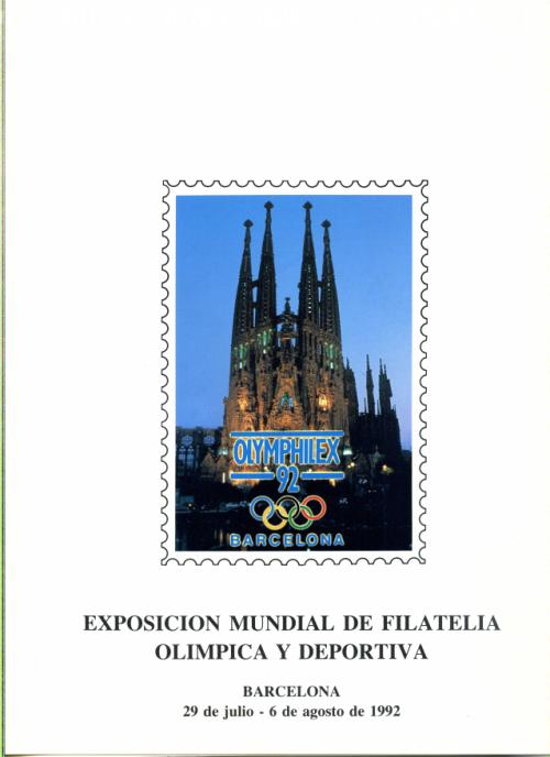 1992. Documento FNMT Olymphilex.