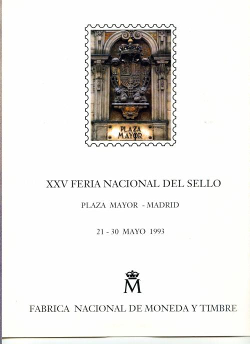 1993. Documento FNMT. XXV Feria Nacional del Sello