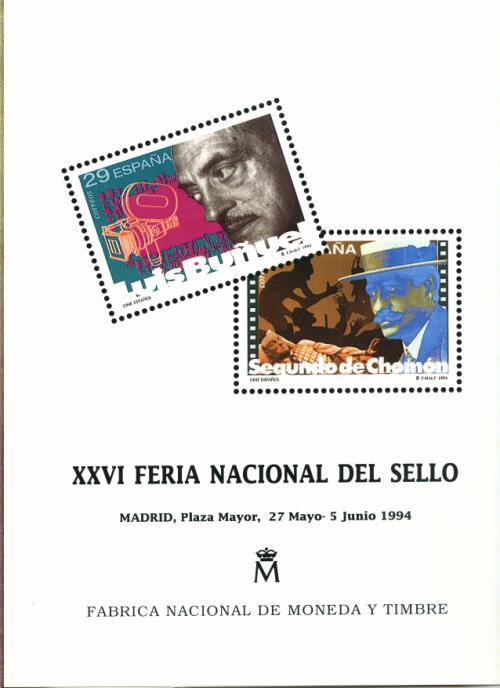 1994. Documento FNMT. XXVI Feria Nacional del Sello