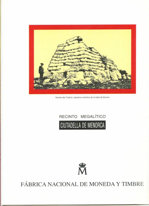 1996. Documento FNMT. Naveta des Tudons