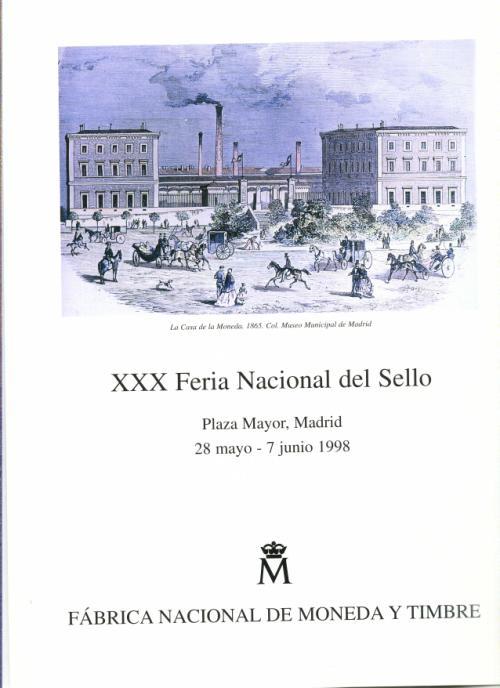 1998. Documento FNMT. XXX Feria Nacional del Sello