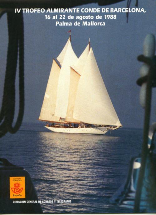 1988 Documento de Correos. IV Trofeo Almirante Conde de Barcelona