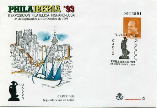 1993. PHILAIBERIA. Cádiz. Matasellado