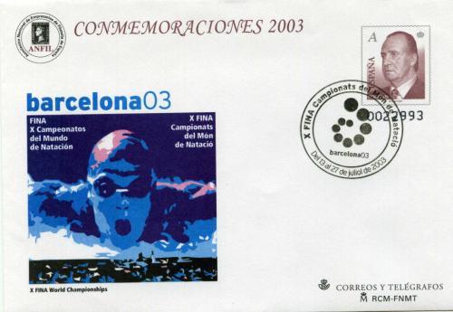2003. Natación. Barcelona. Matasellado