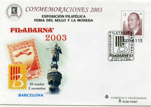 2003. Filabarna. Matasellado