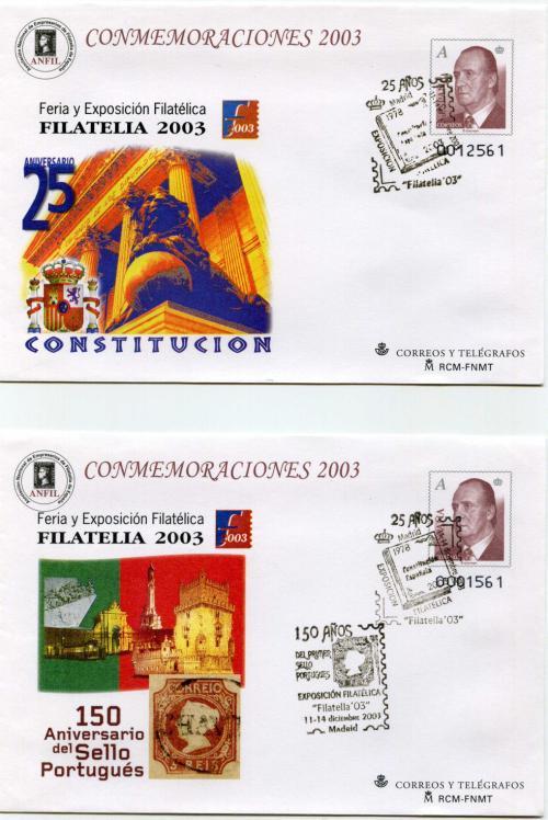 2003. Filatelia. Madrid. Matasellado