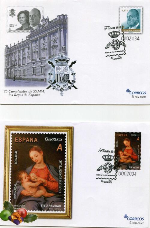 2013. Filatelia. Madrid. Matasellado