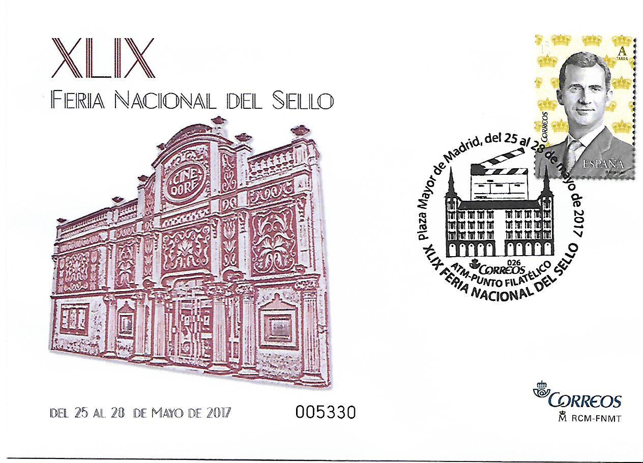 2017. Feria Nacional del Sello. Madrid. Matasellado.