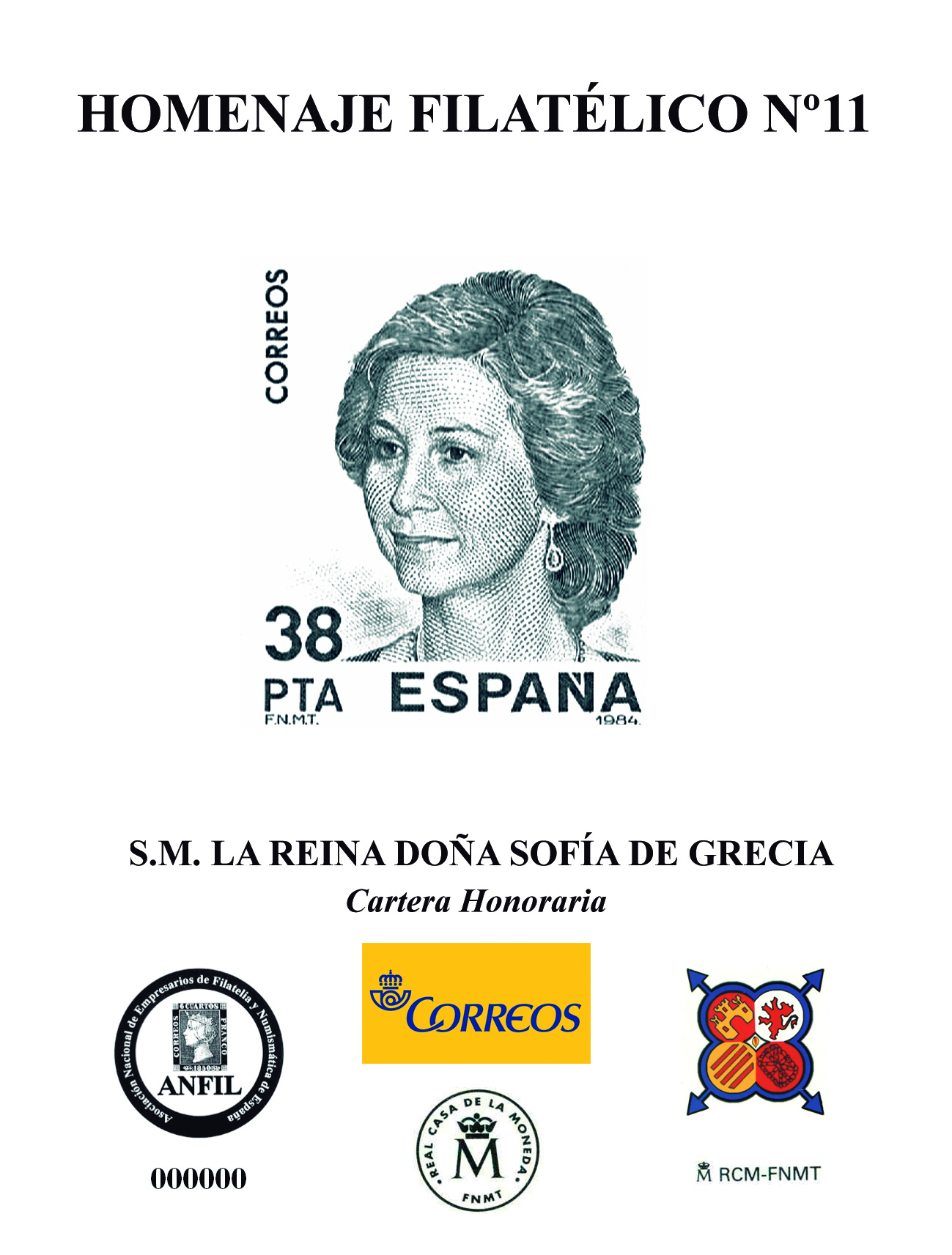 2016. S.M. La Reina Doña Sofía de Grecia. Cartera Honoraria.