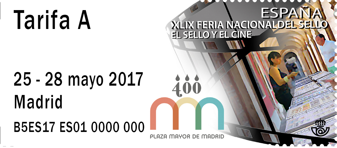 2017. Etiqueta. Mercado Filatélico