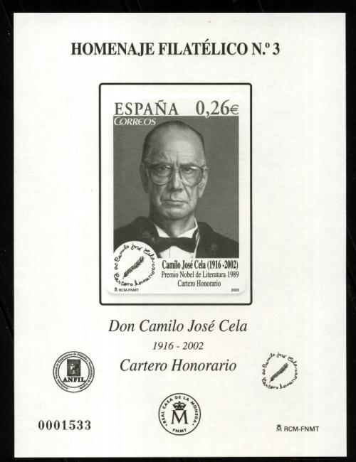 2007. Don Camilo José Cela (Agotado-sólo lote)