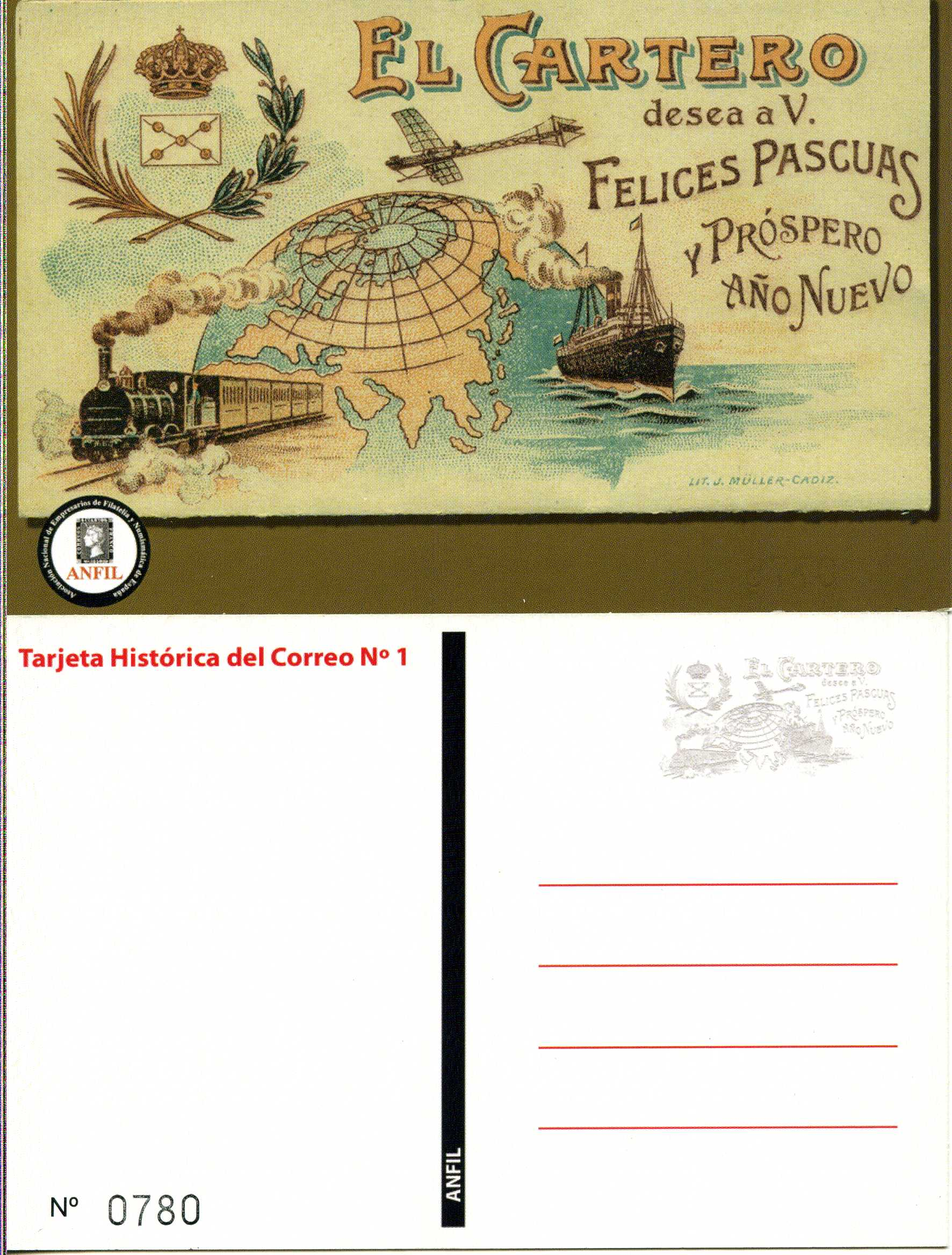2012. Tarjeta Histórica del Correo