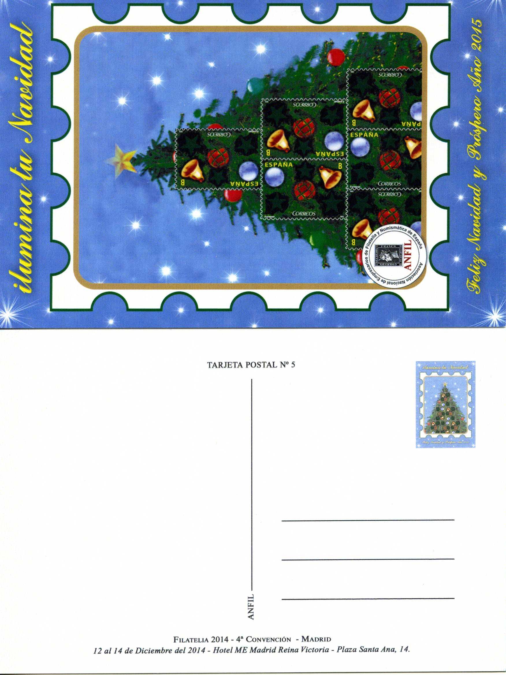 2014. Tarjeta Postal ANFIL Navidad