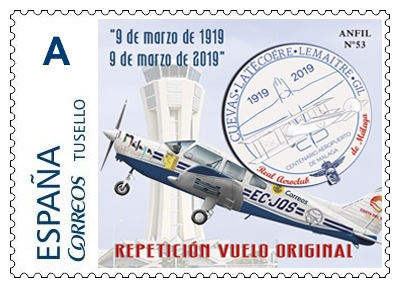 2019. Vuelo Aeropostal 2019. Málaga