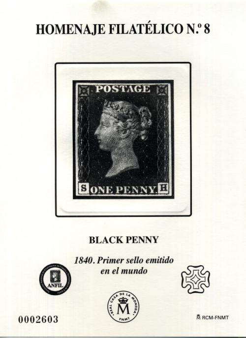 2012. Black Penny. Iº Sello del Mundo